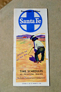 Santa-Fe-Schedules-of-Principle-Trains-Oct-27-1957-to-Jan-15-1958
