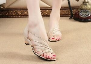 0c00cd9f9 2015 summer Fashion women Roman low heel hollow casual dress sandals ...