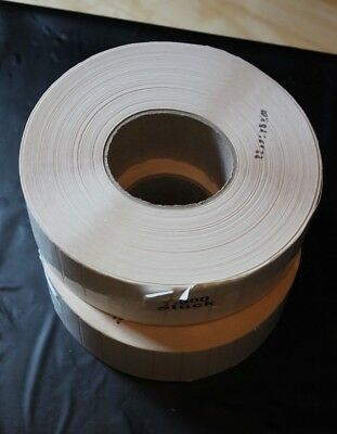 2 Rollen Thermotransfer-etiketten, Polyethylen Folie 60 X 18 Mm, 7500 Stück Volumen Groß