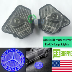 2 X Leds Side Rear View Mirror Puddle Logo Lights For
