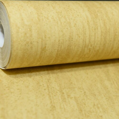 Deco Discount Plain Yellow Gold Sparkle Glitter Slight Seconds Wallpaper L66602