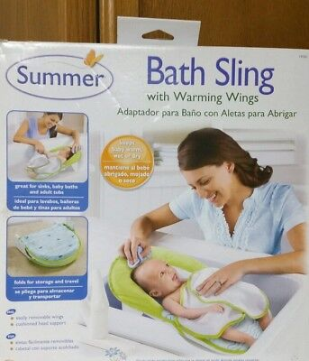 Bath Tub Seats & Rings Modest Summer Infant Baby Bath Sling Warming Wings Sink Adapter Fold Storage New To Be Renowned Both At Home And Abroad For Exquisite Workmanship Baby Skillful Knitting And Elegant Design