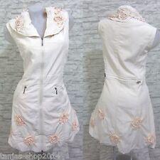 NEU Lange Weste Kleid Tunika Longshirt Aprico Gr 50 (R4310N) GLAMZ FRANSTYLE