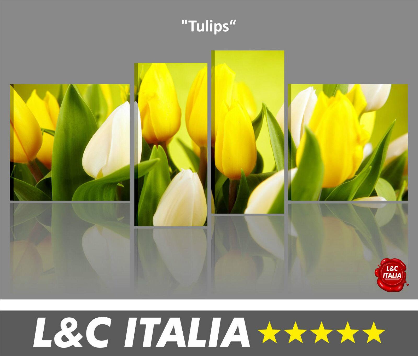 ASTRATTI PAESAGGI XXL MODERNI QUADRI 4 Tulips CASA ARrotO ...