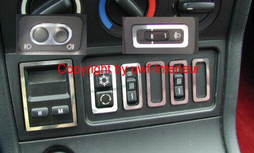 Ph BMW Z3 chrom Blendensatz Uhr Schalter NSW LWR etc