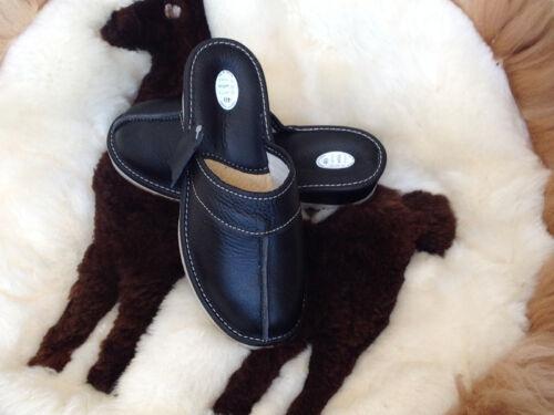 Hit Lady Women Black Leather Slippers Sandals Cothurnus Shoes Size 3 4 5 6 8