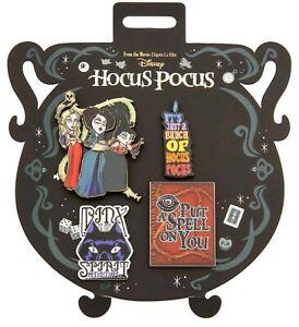 Disney-Store-Hocus-Pocus-4-Pin-Set-Halloween-2019-Sanderson-Sisters-Binx-Spell