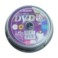 10-PK Ridata 4X Mini White Inkjet Printable DVD-R Disc Media 8CM 1.46GB 30Min