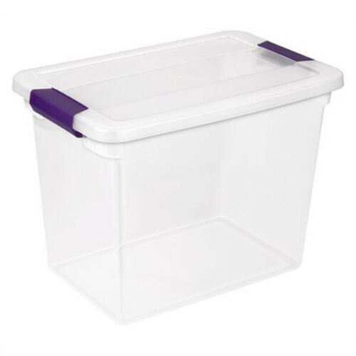 6 Pack Sterilite 27 Quart ClearView Clear Plastic Stacking Storage Container