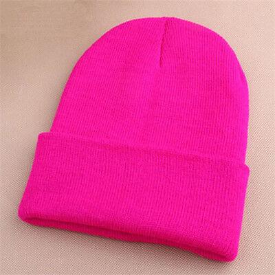 Colorful Unisex Beanie Women's Men's Ski Winter Warm Knit Wool Cap Hip-Hop Hat