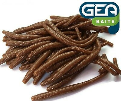 IVORY Trout Worm Earthworm Sea Fishing Soft Lures Tackle Baits 8cm
