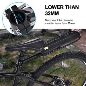 Bike-Bicycle-Rear-Rack-Seat-Post-Mount-Pannier-Luggage-Carrier-Shelf-Black-USA