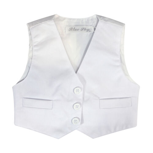 BNWT Page Boys Kids 5PCS Formal Suit Christening Wedding White Suit SIZE 000-16