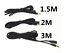 Rallonge-Jack-Cable-Male-Vers-Femelle-3-5mm-Cordon-Audio-Stereo-1-5m-2m-3m-5m miniatuur 2