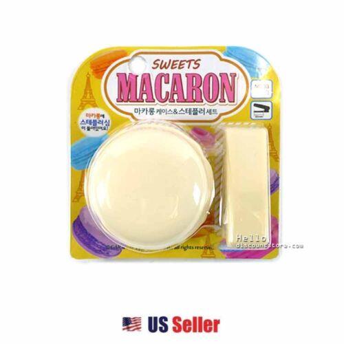 3pcs Staples in the Macaron 1pcs Stapler Sweet Macaron Stapler SET