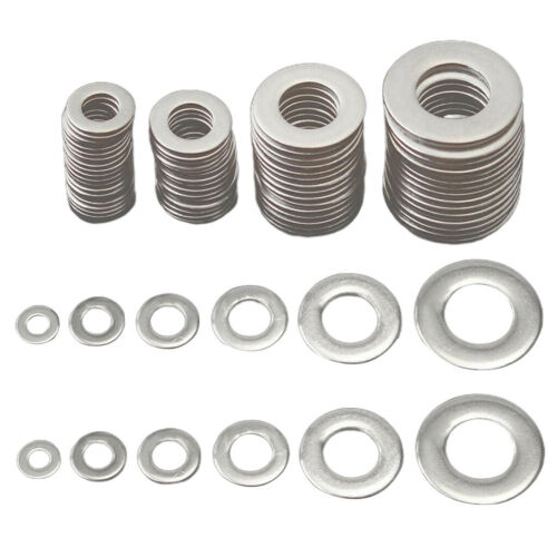 115ASSORTED PIECE STAINLESS STEEL M2 M2.5 M4 M5 M6 M8 M10 FORM A FLAT WASHER KIT