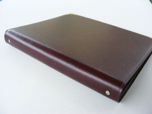 Buch der Familie*personalisiert*Kunstleder-Ringbuch blau bordeaux schwarz