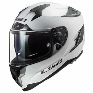 LS2-Challenger-FF327-Solid-White-Motorbike-Motorcycle-Helmets