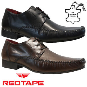 mens red tape real leather lace up casual formal smart