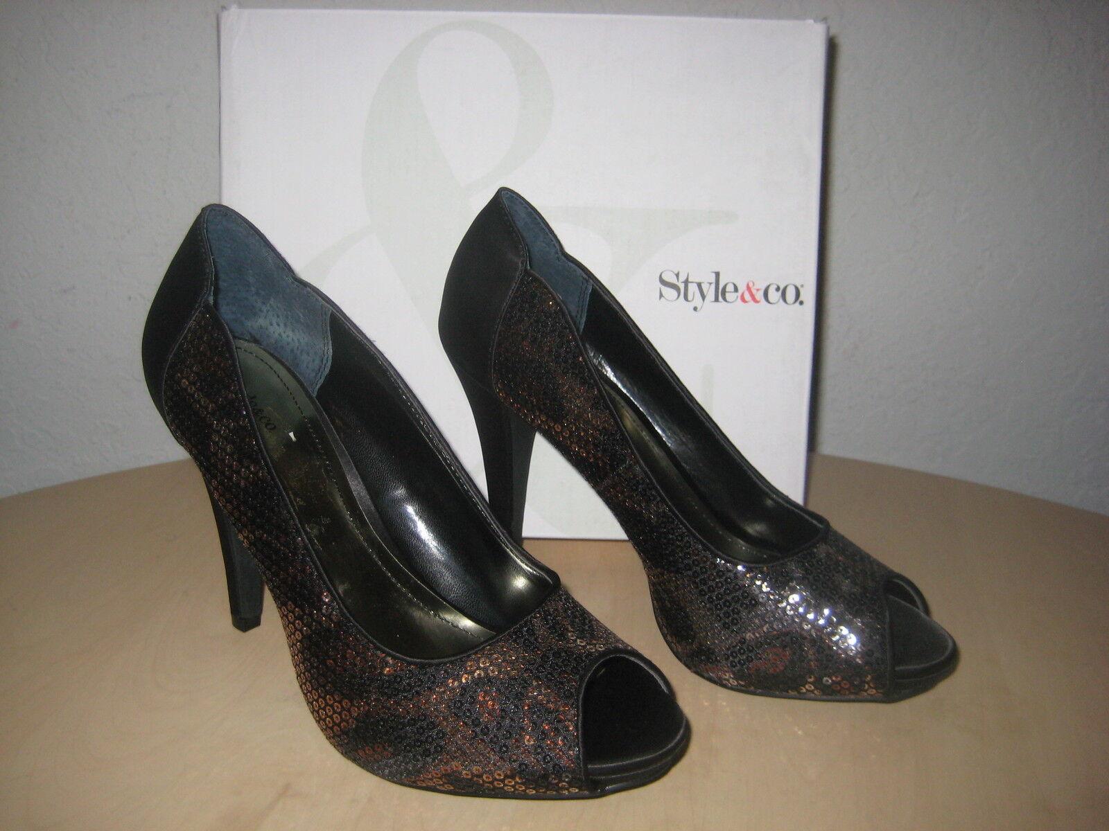 risparmia il 60% di sconto e la spedizione veloce in tutto il mondo Style Style Style & Co scarpe Dimensione 8 M donna New Naveah nero Leopard Pumps Heels NWB  risparmia il 60% di sconto