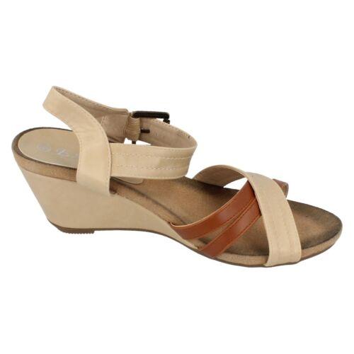 Ladies F10262 Wedge Sandals By Eaze Retail price £6.99