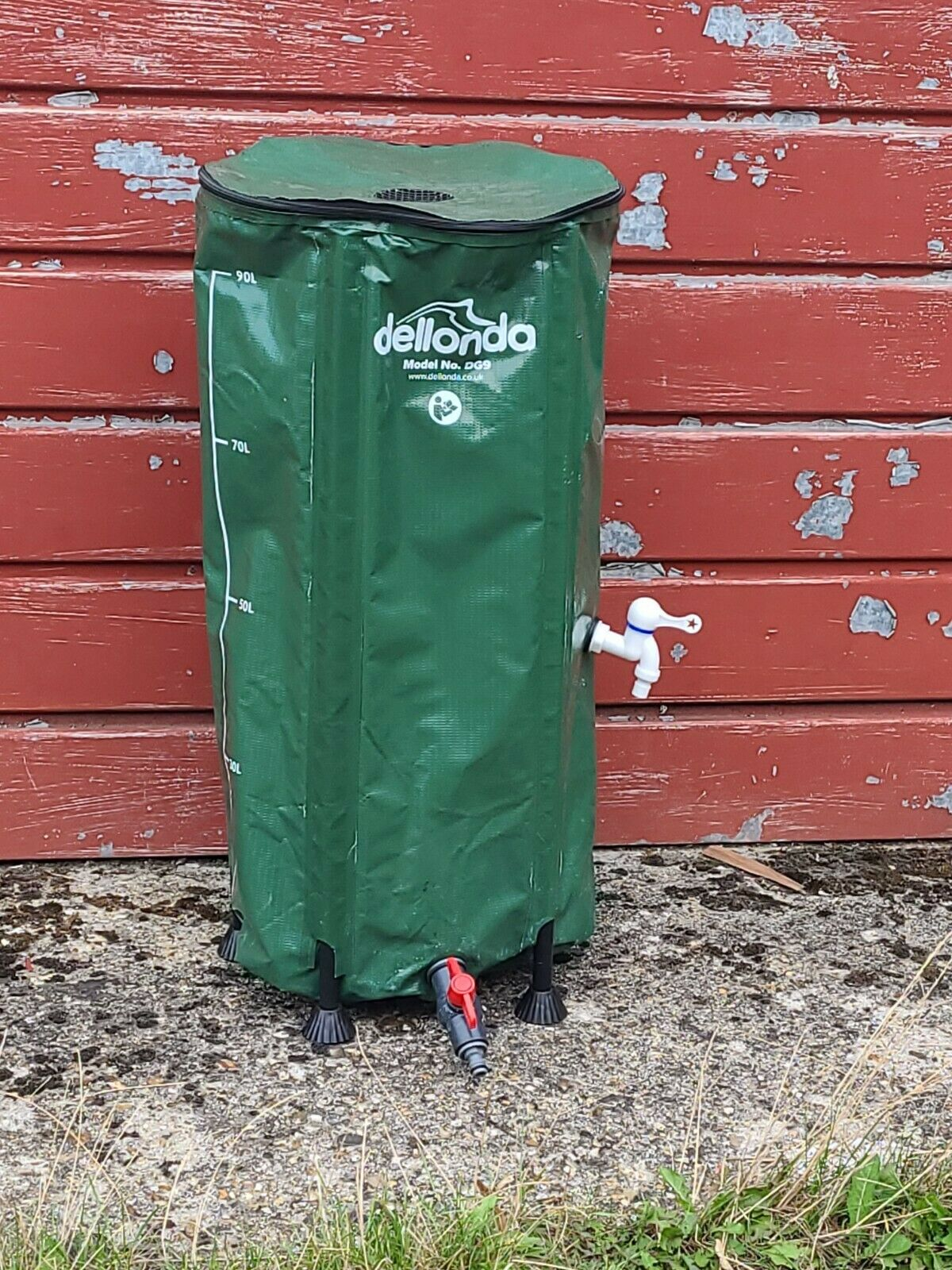 Dellonda Collapsible Fold Up PVC Garden/Hydroponics Water Butt with Zipped Lid .
