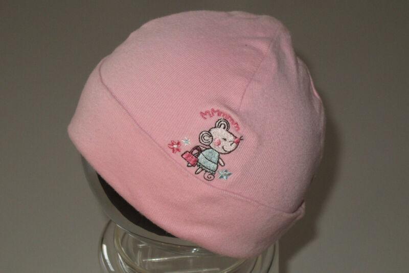 Baumwoll-mütze Mit Kleiner Stickerei Maus - Gr. 74/80 - Topomini -wie Neu-
