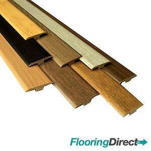 Image is loading Oak-Walnut-Threshold-Trim-T-Bar-Door-Strip-  sc 1 st  eBay & Oak Walnut Threshold Trim T Bar Door Strip Profile for laminate ...