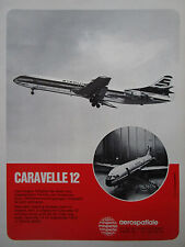 7/1972 PUB AEROSPATIALE CARAVELLE 12 STERLING AIRWAYS AIR INTER GERMAN AD
