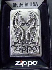 Zippo Sturmfeuerzeug Twins Dragon Heart Emblem