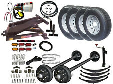 Hydraulic Dump Trailer Parts Kit - Tandem Electric Brake Axles - Model 14HD HD