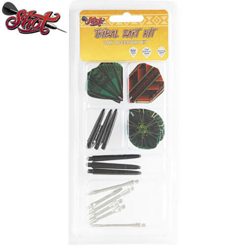 Shot Tribal Dart Accessory Kit 9 Dart Flights 12 Dart Shafts Free Post