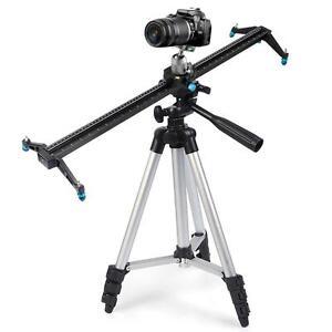 """Pro 32"""" 80cm DSLR Camera Slider Dolly Track Video Stabilizer Camcorder Studio"""