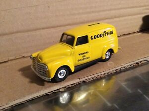 Details about 1950 sedan delivery van Goodyear truck chevrolet 1:43 blue  ROAD CHAMPS