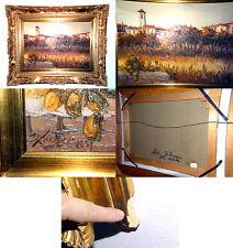 Vintage Antonio Di Viccaro Original Oil Canvas Painting Italian Villa Landscape