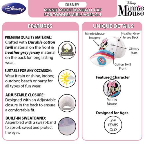 Toddler Girls Age 2-4 Disney Minnie Mouse Bowtique Baseball Cap