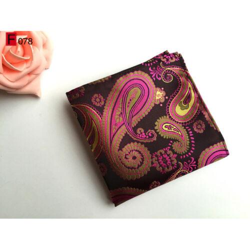 Men Paisley Floral Silk Tie Handkerchief Pocket Square Hanky Set Lot HZBWT118