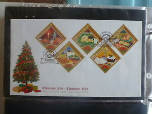 NEW-ZEALAND-2004-CHRISTMAS-CHRISTMAS-FARE-SET-5-STAMPS-FDC-FIRST-DAY-COVER