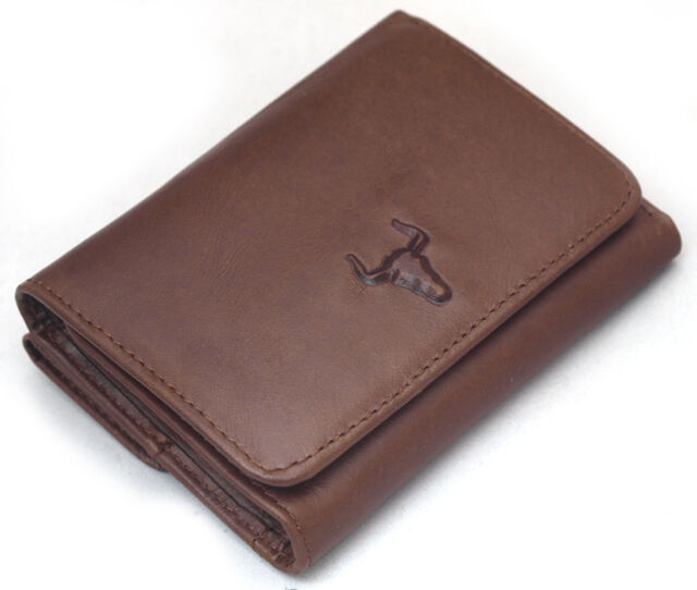 acde0f68bf Men s Genuine Leather Wallet Trifold 9 Credit Card Holders Coin Pocket Purse