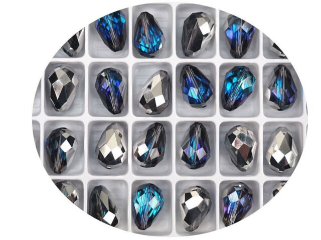 12 Crystal Vitrail Lt Preciosa Czech MC Pear Beads tear drop shape 12x8mm P303