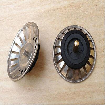 Stainless Kitchen Sink Stopper Waste Strainer Filter Disposer Drain Leach Plug