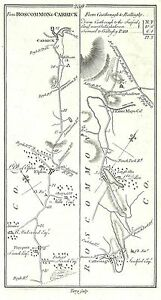Antique-map-Roads-from-Rosscommon-to-Carrick-2-Castlereagh-to-Ballaghy