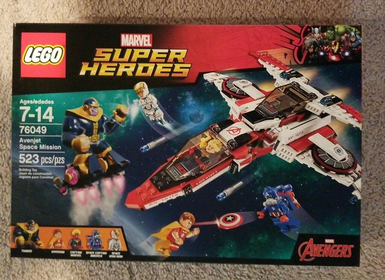 Lego Super Heroes förundras Avenjet Space Mission Thanos Infinity War NY 76049 (C)