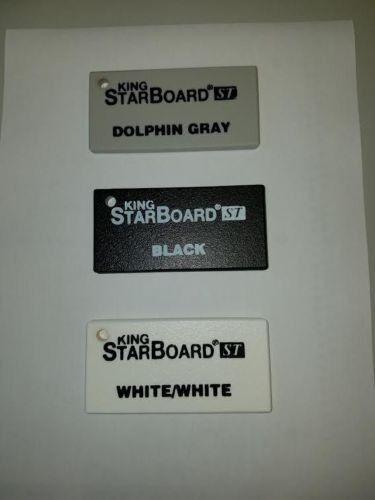 "Dolphin Gray CNC,Marine 24/"" x 12.5/"" x 1//2/"" Textured HDPE Plastic Sheet"