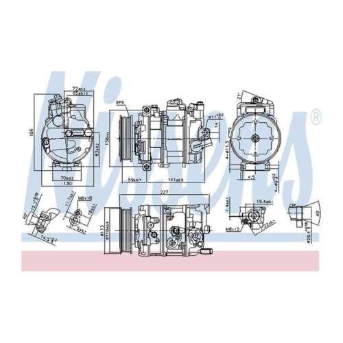 Genuine Nissens A//C Air Con Compressor 890632