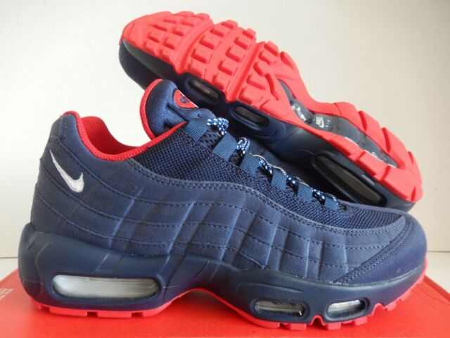 Nike Air Max 95 Premium Midnight Navy White Red USA Bv1255 400 Size 7.5