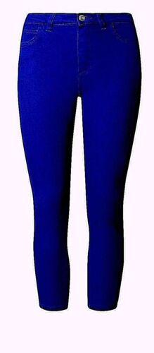 M&S Taglie Forti Da Donna Jeans Attillati Corti Pantaloni 10 12 14 16 18 20 22 24