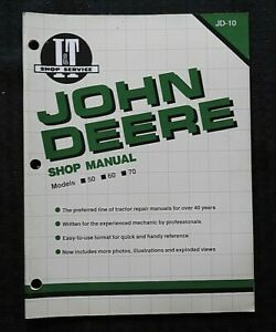 "JOHN DEERE ""50 60 70 Two-Cylinder"" TRACTOR I & T SHOP REPAIR MANUAL NICE"
