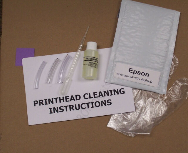 Epson Workforce Wp-4530 Printhead Cleaning Kit (everything Included) 445MUD
