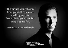 DOMINIC CUMBERBATCH SIGNED QUOTE PRINT POSTER AUTOGRAPH